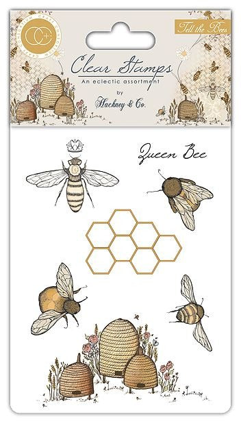 Craft Consortium - Clear Stamp, Tell the Bees