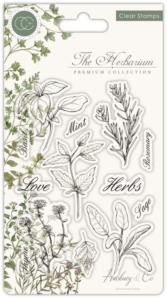 Craft Consortium - Clear Stamp, The Herbarium - Herbs