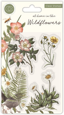 Craft Consortium - Clear Stamp - At Home in the Wildflowers - Flora