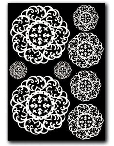 Stamperia - Rub-on Decotransfer - A5 size - Doilies