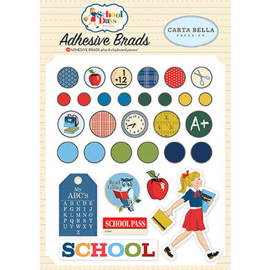 Carta Bella - School Days - Adhesive Brads