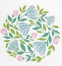 PinkFresh Studio - Floral Print Circle - Stencil