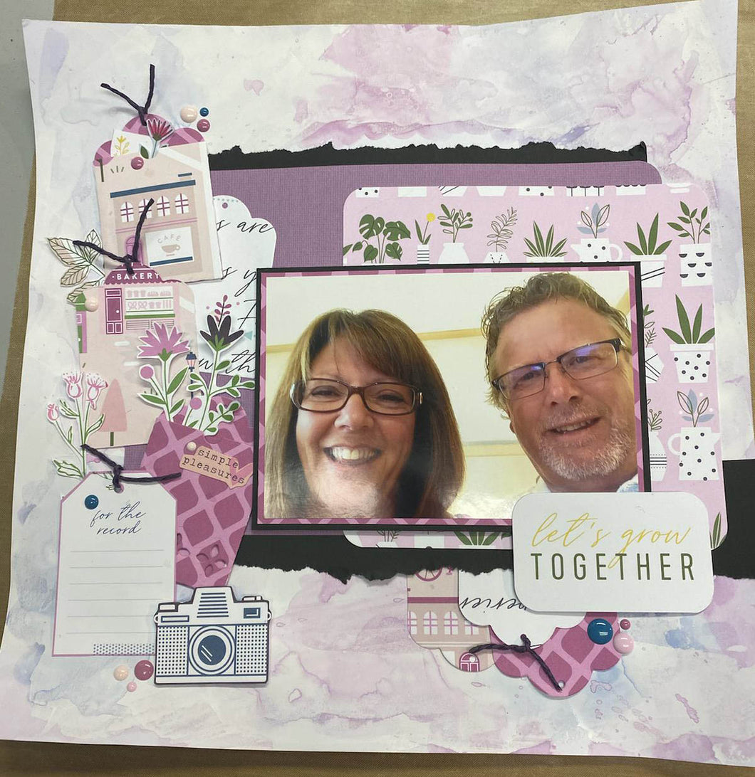 Take Away ~ One page scrapbook Kit ~ Noted
