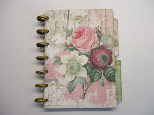 Rose Mini Album, Journal crafting kit disc planner, Vintage, digital print, Digital Scrapbooking, old paper ephemera, junk journal