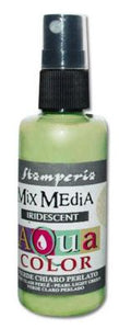 Stamperia 314 Aquacolor spray 60ml. - Iridescent light green