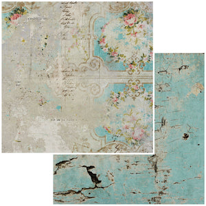 12X12 Patterned Paper, Vintage Remnants - Paper No. 10