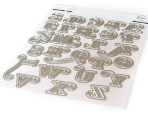 PinkFresh Studio - Lea's Ornate Uppercase Die