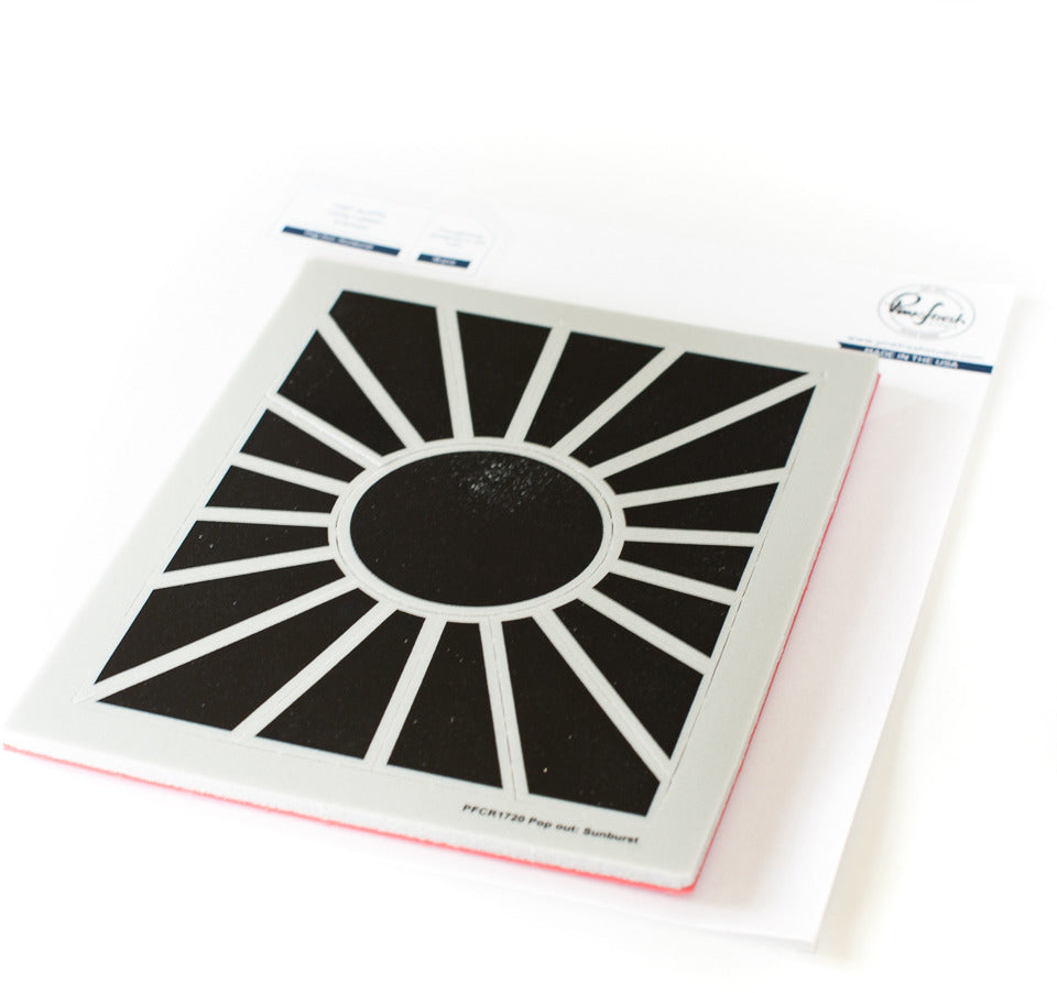 PinkFresh Studio - Pop-Out Sunburst Stamp