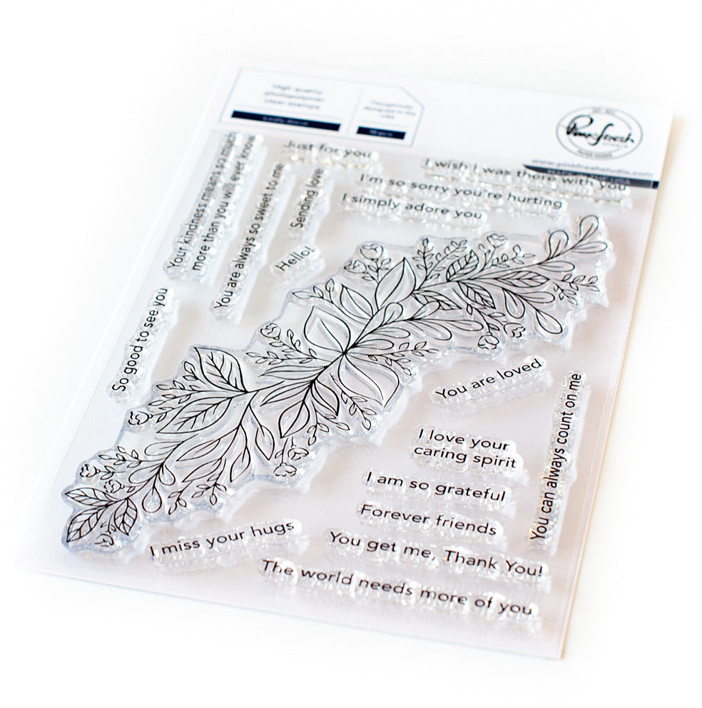 Pinkfresh- Leafy Decor STAMP & DIE SET