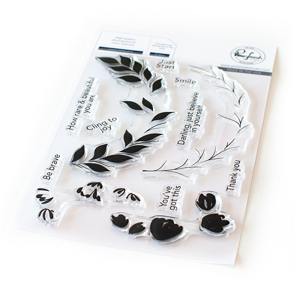 Pinkfresh- Curvy Floral Vine STAMP & DIE SET