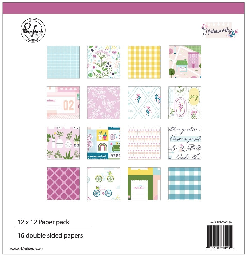 PinkFresh Studio - Noteworthy Paper Pack