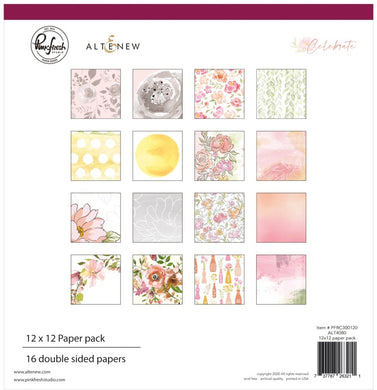 PinkFresh Studio & Altenew - 12x12 Paper Pack - Celebrate