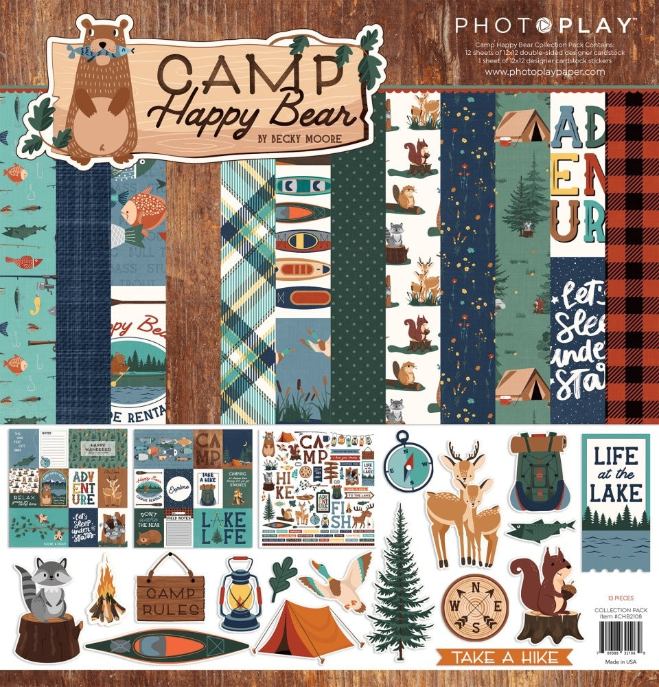 Photo Play Paper - 12x12 Collection Kit - Camp Happy Bear