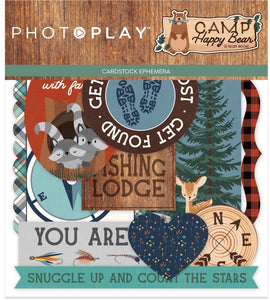 Photo Play Paper - Ephemera - Camp Happy Bear