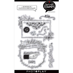 Photo Play Stamps - Say it with Stamps - Envelope Art