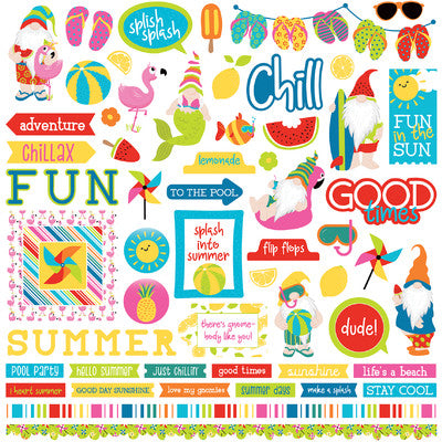 Photo Play Paper - Tula & Norbert's Excellent Adventure - Sticker Sheet