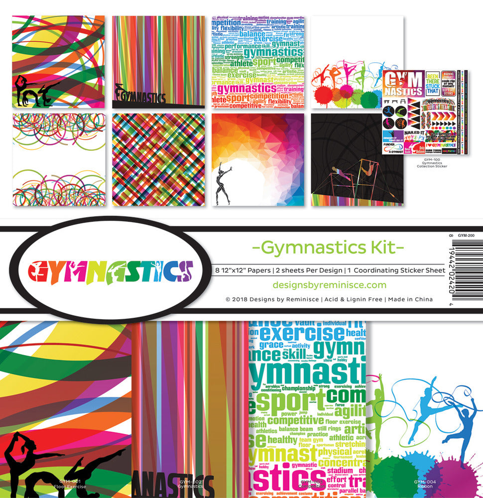Gymnastics Kit 12x12 Paper Collection