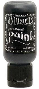 Dylusions Paint 1oz - Black Marble