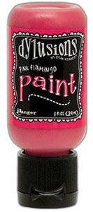 Dylusions Paint 1oz - Pink Flamingo