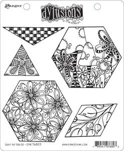 Dylusions Stamp - Quilt As You Go