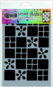 Dylusions Stencil - Square Dance - Small