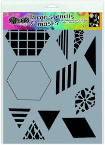 "Dylusions Stencil - 2"" Quilt - Large"