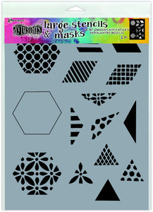 "Dylusions Stencil - 1.5"" Quilt - Large"