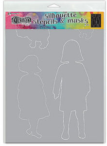 Dylusions Stencil & Mask - Edith - Large
