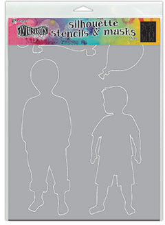 Dylusions Stencil & Mask - Otis - Large