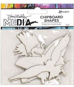 Dina Wakley Media - Chipboard Shapes - Flying
