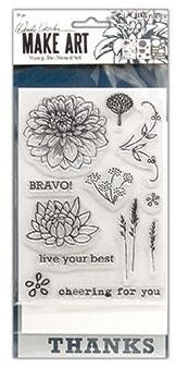 Wendy Vecchi - Make Art - Stamp Die & Stencil Set - Bravo