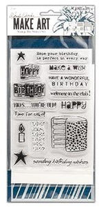 Wendy Vecchi - Make Art - Stamp Die & Stencil Set - Birthday Bash