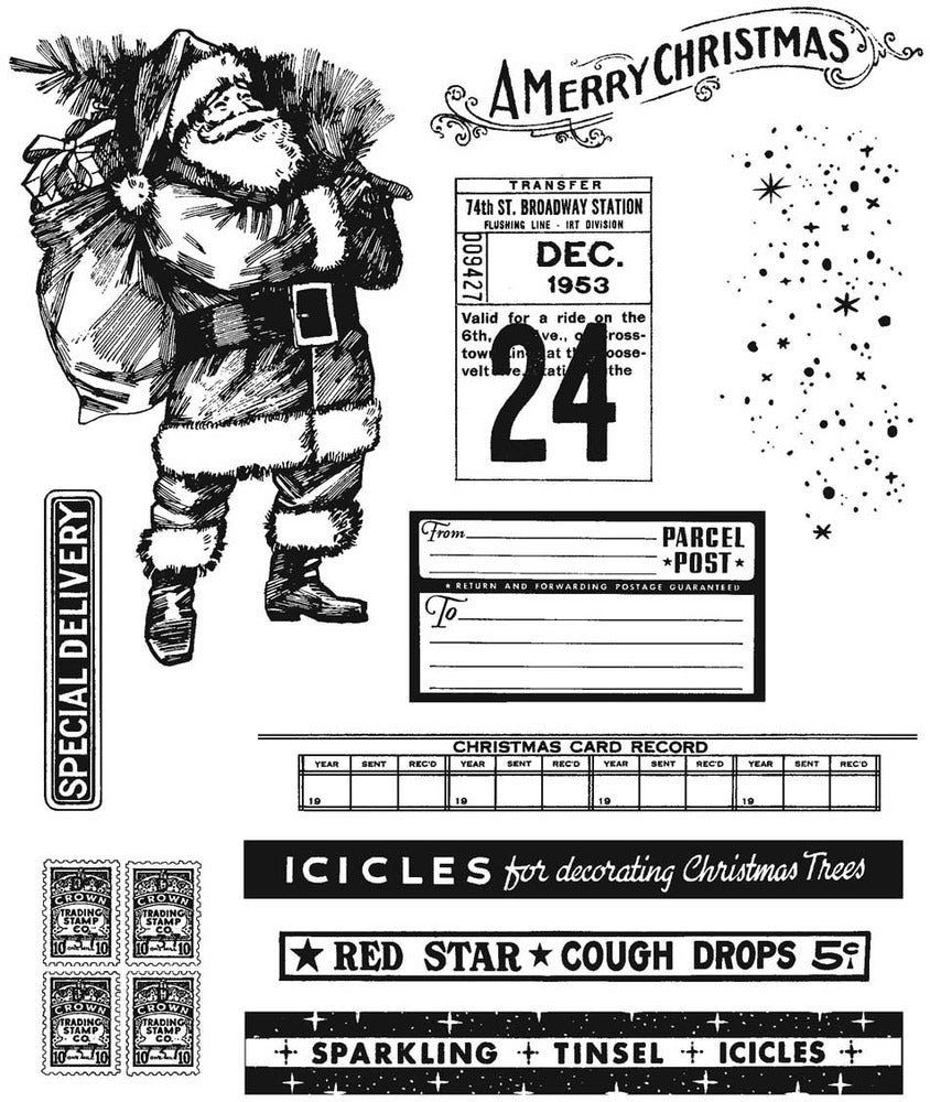 Stampers Anonymous - Tim Holtz - Vintage Holidays - CMS423