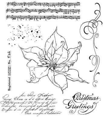 Stampers Anonymous - Tim Holtz - The Poinsettia - CMS426