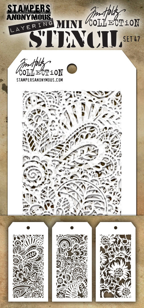 Tim Holtz - Mini Layering Stencil - Set #47