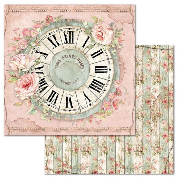 Stamperia - House of Roses - Paper Clock SBB674