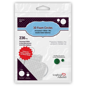 Scrapbook Adhesives 3D Foam Circles White mixed pack