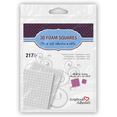 Scrapbook Adhesives 3D Foam Squares White Mix pack
