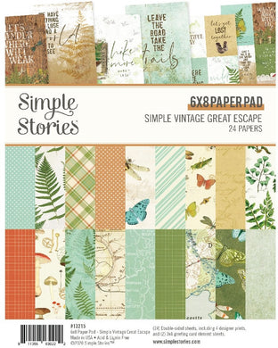 Simple Vintage  - 6X8 Paper Pad - Great Escape