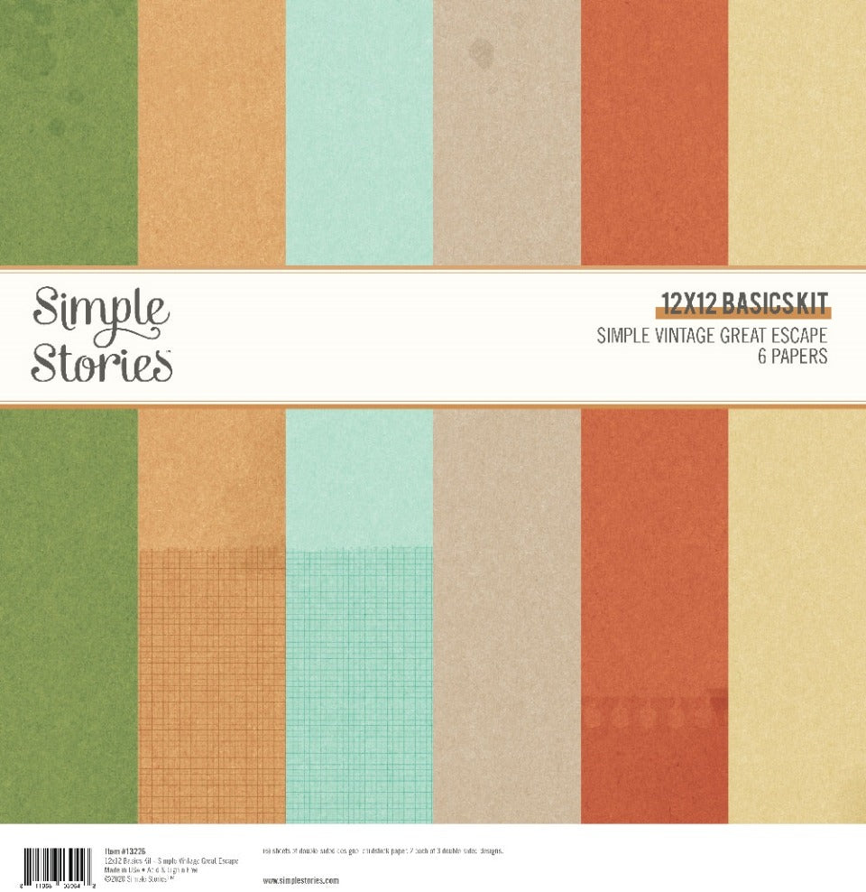Simple Vintage  - 12x12 Basics Kit - Great Escape