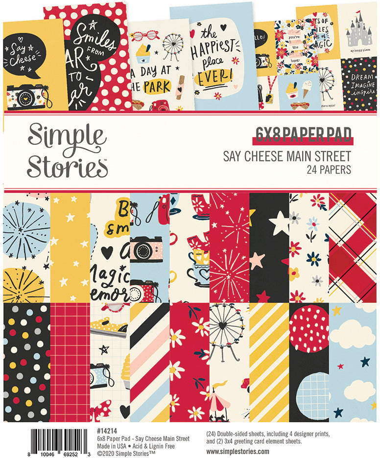 Simple Stories  - 6X8 Paper Pad - Say Cheese Main Street