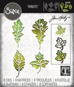 Tim Holtz Thinlit - Thinlits Die Set, Leaf Print (8pk)