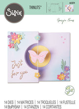 Sizzix - Thinlits Die Georgie Evans  - Butterfly Spinner Card