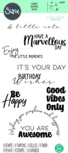 Sizzix -  Clear Stamp - Lisa Jones -  Everyday Sentiments #2