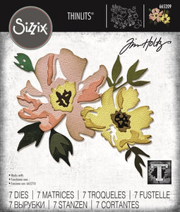Tim Holtz Thinlit - Brushstroke Flowers #1