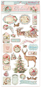 Stamperia - Chipboard - Pink Christmas