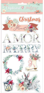 Stamperia - Gratitude - Amor Merry Christmas  - Chipboard