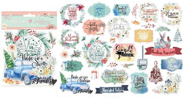 Stamperia - Gratitude - Christmas Labels  -Die Cuts