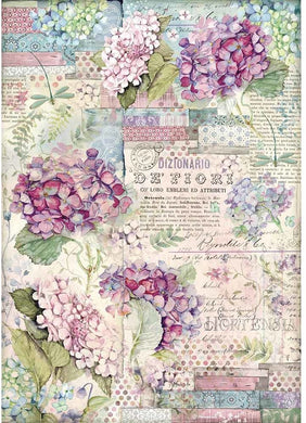 Stamperia Rice Paper for Decoupage - A3 Rice Paper, Hortensia