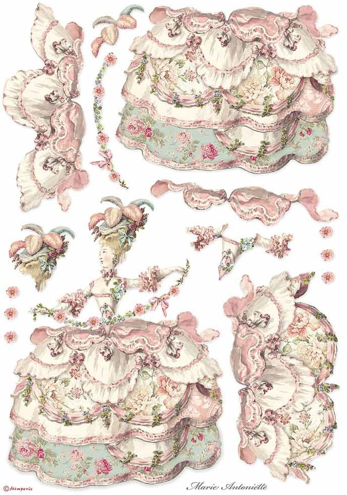 Stamperia Rice Paper for Decoupage - A3 Rice Paper, Princess - Lady Pink